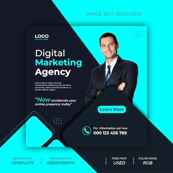 Ontwerp van digitale marketingpost