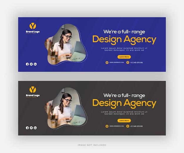 Ontwerp van digitale zakelijke marketing facebook-omslagsjabloon