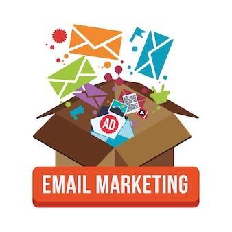 Ontwerp van e-mailmarketing en communicatiemedia