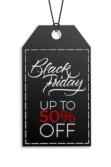 Ontwerp van een reclameposter voor kortingen op een zwarte vrijdag
