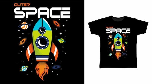 Ontwerp van een t-shirt in de ruimte