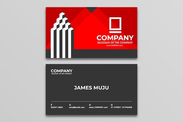Ontwerp van een visitekaartje eenvoudig en modern