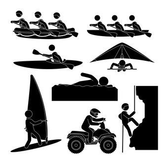 Ontwerp van extreme sporten.
