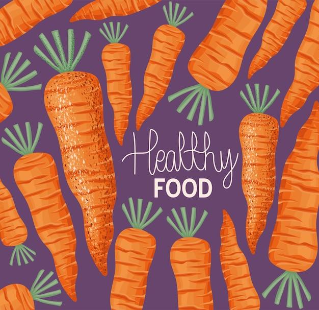 Ontwerp van gezond eten met wortelen