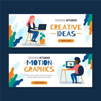 Ontwerp van grafisch ontwerperbanners