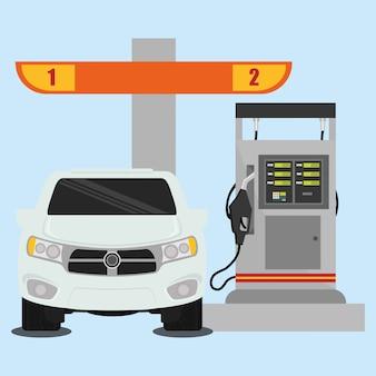 Ontwerp van het benzinestation