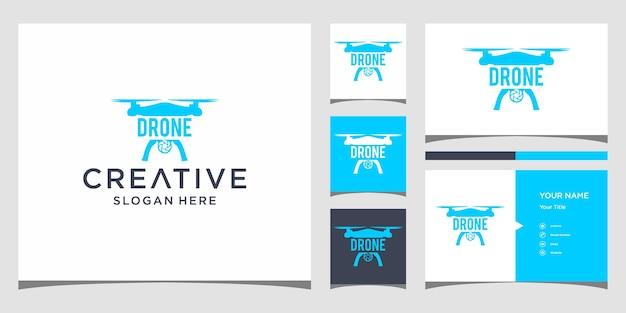 Ontwerp van het drone-logo: