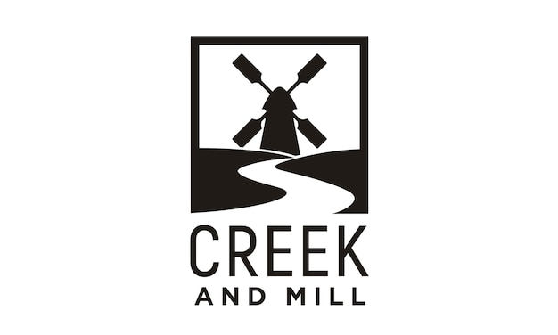 Ontwerp van het logo van creek en mill