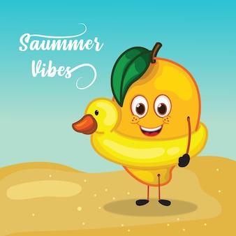 Ontwerp van mango is klaar om te zwemmen