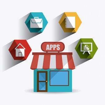 Ontwerp van mobiele apps.