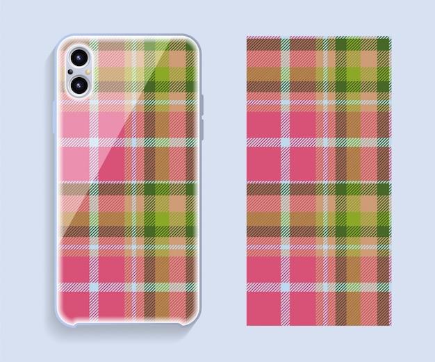 Ontwerp van mobiele telefoonhoesjes. sjabloon smartphone case patroon.