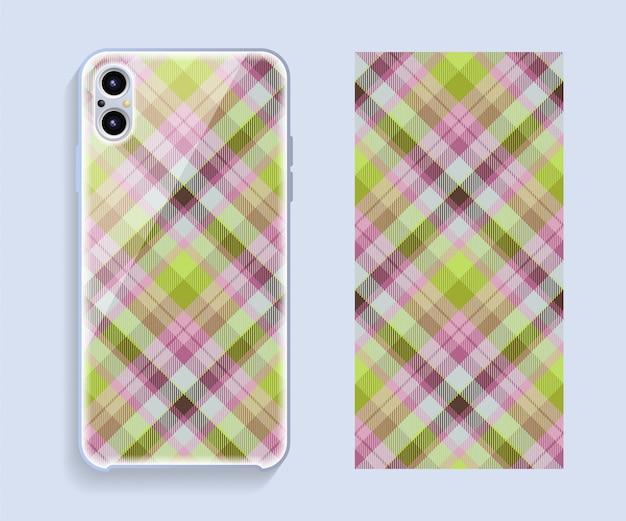 Ontwerp van mobiele telefoonhoesjes. sjabloon smartphone geval vector patroon.