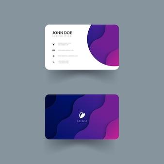 Ontwerp van naamkaartsjabloon met kleurrijke golfvormen