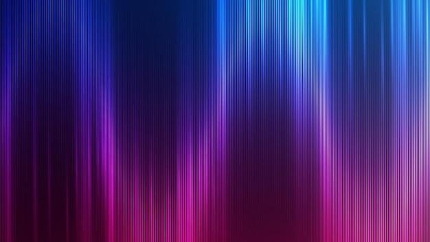 Ontwerp van neon abstracte lijnen op gradiëntachtergrond. Premium Vector