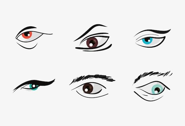 Ontwerp van ogen en wenkbrauwen