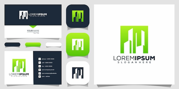 Ontwerp van onroerend goed logo