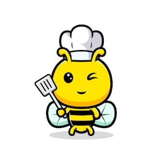 Ontwerp van schattige honingbij chef-kok.