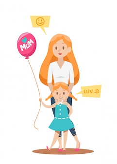 Ontwerp van single mom-tekens