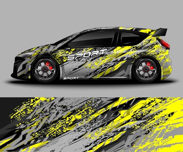 Ontwerp van sportwagenwrap en kleurstelling van het voertuig