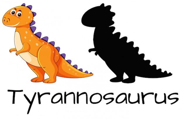 Ontwerp van tyrannosaurus dinosaurus
