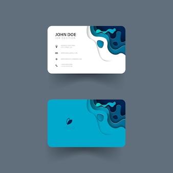 Ontwerp van visitekaartje met papier gesneden vormen