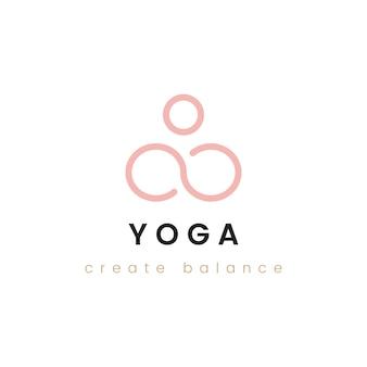 Ontwerp van yoga creëren balans logo vector
