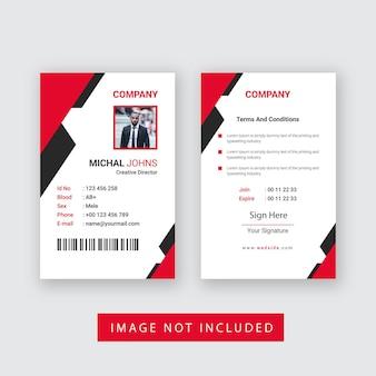 Ontwerp van zakelijke id-kaart