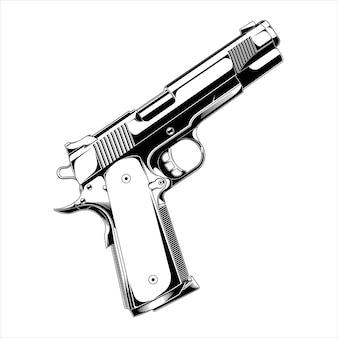 Ontwerp vector pistool nighthawk roofdier
