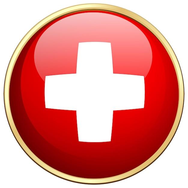 Ontwerp vlagpictogram voor zwitserland