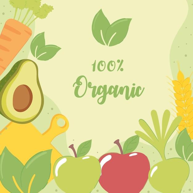 Ontwerp voor biologisch voedsel