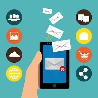 Ontwerp voor e-mailmarketing.