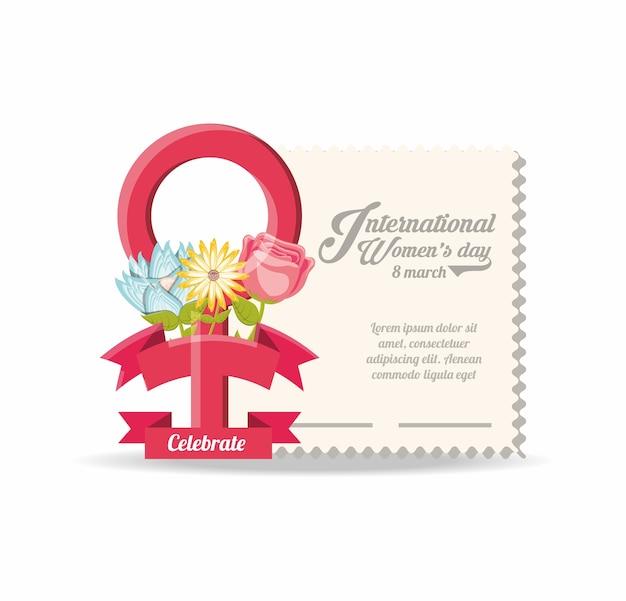 Ontwerp voor internationale damesdag