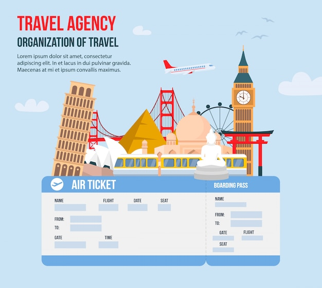 Ontwerp voor reisbureau