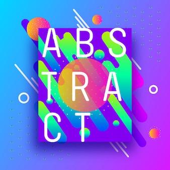 Ontwerp vrolijke abstracte vormen en lijnen