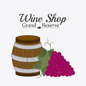 Ontwerp wijnwinkel.