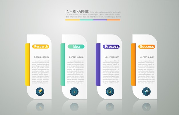 Ontwerp zakelijke sjabloon opties infographic grafiekelement.