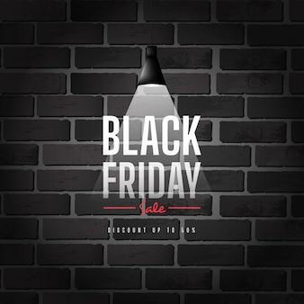 Ontwerp zwarte vrijdag verkoop banner
