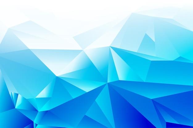 Ontwerpconcept - abstracte blauw witte geometrische gradiënt veelhoekige driehoek vorm achtergrond