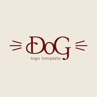 Ontwerpconcept voor dierenkapper of kapper. vector logo sjabloon.