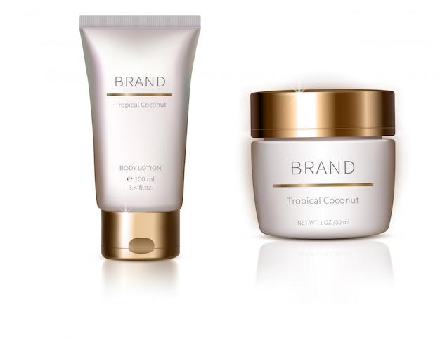 Ontwerpelement met organische cosmetica