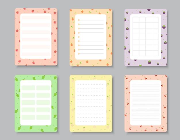 Ontwerpelementen voor notebook Premium Vector
