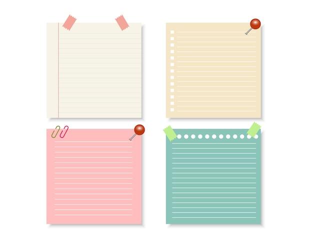 Ontwerpelementen voor notebook.