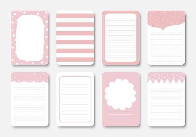 Ontwerpelementen voor notebook. Premium Vector