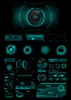 Ontwerpelementen voor snelheidstechnologie-interfacesjabloon