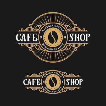 Ontwerpembleem voor koffie, met vintage stijl