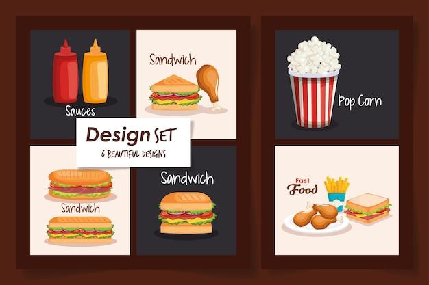 Ontwerpen van fast food heerlijk