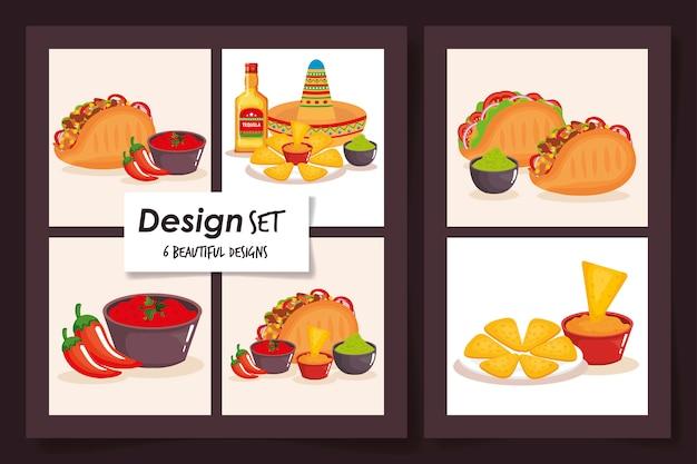 Ontwerpen van traditioneel voedsel mexico