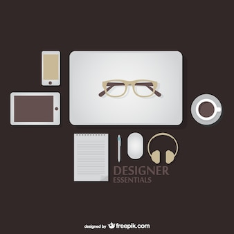 Ontwerper essentials kit vector