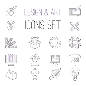Ontwerpers team iconen vector collectie