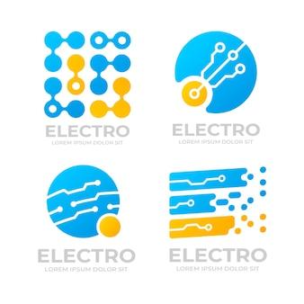 Ontwerppakket voor plat elektronica-logo